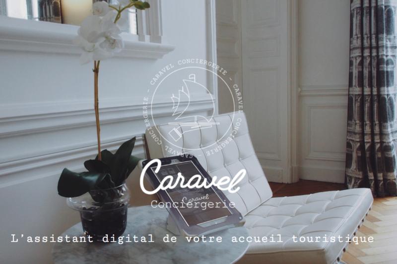 la page d'accueil du site web caravel conciergerie